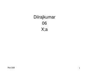 Dilrajkumar 06 X;a