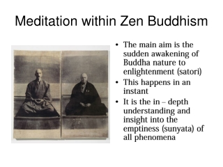 Meditation within Zen Buddhism
