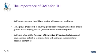 The importance of SMEs for ITU