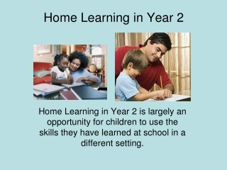 Home Learning in Year 2