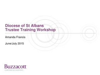 Diocese of St Albans Trustee Training Workshop