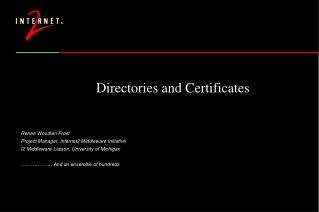 Directories and Certificates