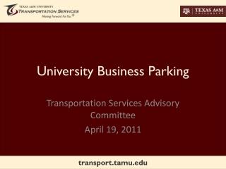 University Business Parking