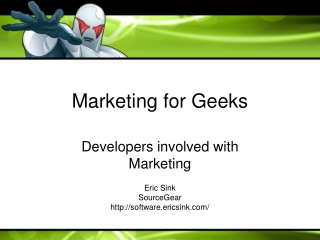 Marketing for Geeks