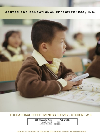 EDUCATIONAL EFFECTIVENESS SURVEY - STUDENT v2.0