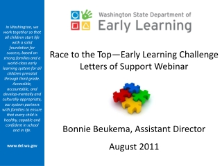 Race to the Top—Early Learning Challenge Letters of Support Webinar