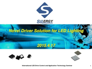 Novel Driver Solution for LED Lighting 2015.4.17
