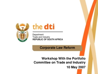 Corporate Law Reform