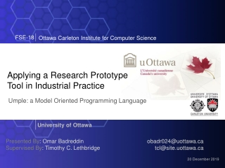 Applying a Research Prototype Tool in Industrial Practice