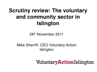 Scrutiny review: The voluntary and community sector in Islington