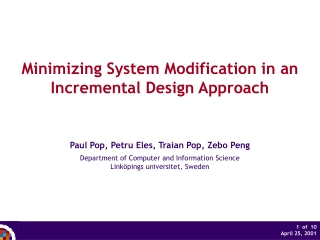 Minimizing System Modification in an Incremental Design Approach