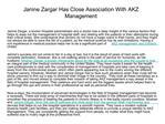 Janine Zargar Has Close Association With AKZ Management