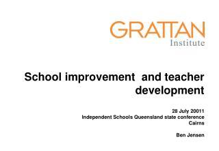 School improvement and teacher development