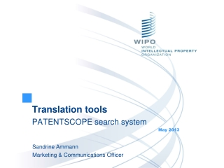 Translation tools PATENTSCOPE search system