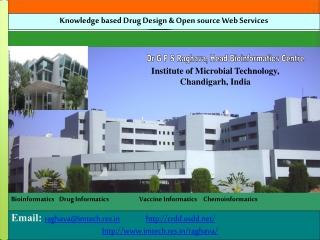 BioinformaticsDrug InformaticsVaccine InformaticsChemoinformatics