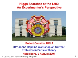 Higgs Searches at the LHC: An Experimenter's Perspective