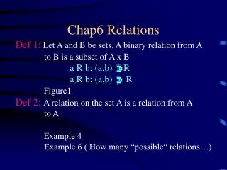 Chap6 Relations