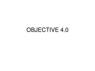 OBJECTIVE 4.0