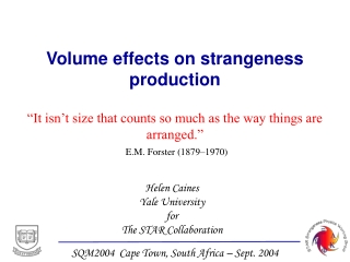 Volume effects on strangeness production