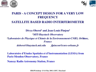 PARIS - A CONCEPT DESIGN FOR A VERY LOW FREQUENCY  SATELLITE BASED RADIO INTERFEROMETER