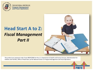Head Start A to Z: Fiscal Management Part II