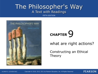 what are right actions? Constructing an Ethical Theory