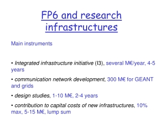 FP6 and research infrastructures