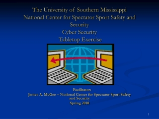 Facilitator: James A. McGee – National Center for Spectator Sport Safety and Security Spring 2010
