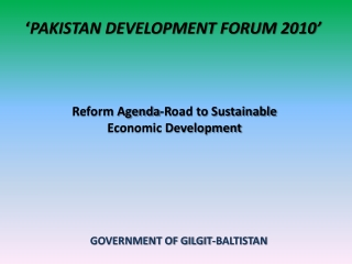 ' PAKISTAN DEVELOPMENT FORUM 2010'