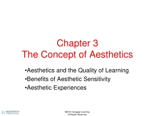 Chapter 3 The Concept of Aesthetics