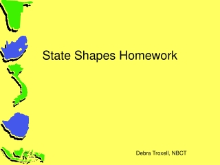 State Shapes Homework