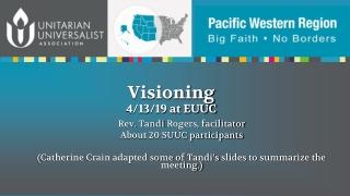 Visioning 4/13/19 at EUUC