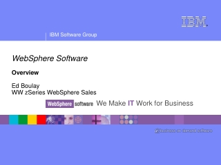 WebSphere Software Overview Ed Boulay WW zSeries WebSphere Sales