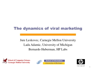The dynamics of viral marketing