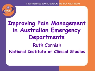 Improving Pain Management in Australian Emergency Departments