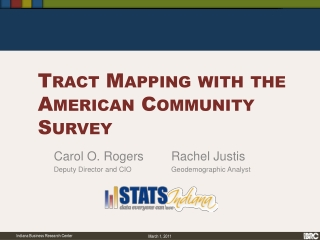 Tract Mapping with the American Community Survey