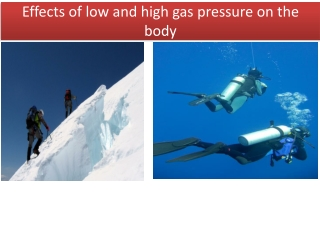 Effects of low and high gas pressure on the body