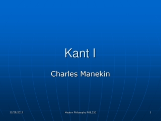 Kant I