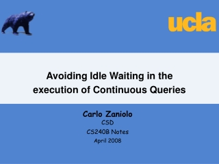 Avoiding Idle Waiting in the  execution of Continuous Queries