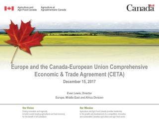 Europe and the Canada-European Union Comprehensive Economic & Trade Agreement (CETA)