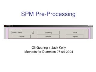 SPM Pre-Processing