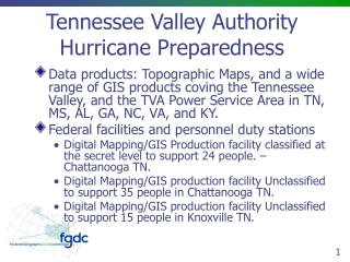 Tennessee Valley Authority Hurricane Preparedness
