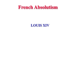 French Absolutism