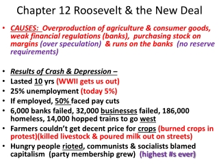 Chapter 12 Roosevelt & the New Deal