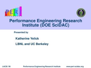 Performance Engineering Research Institute (DOE SciDAC)