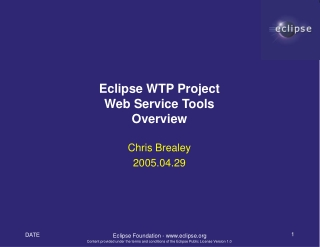 Eclipse WTP Project Web Service Tools Overview