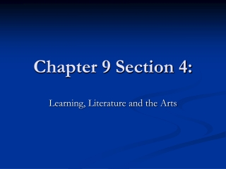Chapter 9 Section 4:
