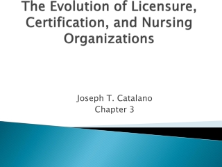 The Evolution of Licensure, Certification, and Nursing Organizations