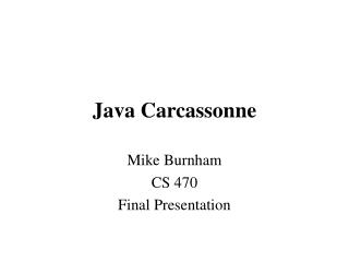 Java Carcassonne