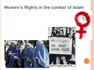 Women's Rights  in  the context of  Islam
